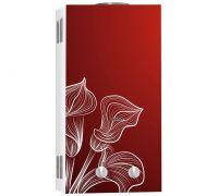 Газовый водонагреватель BaltGaz NEVA 4510 Glass (красный цветок)