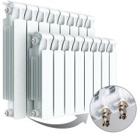 Биметаллический радиатор Rifar Base 350 Ventil, 9 секций